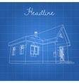 Drawing of the home on a blue background vector image