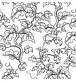 floral seamless pattern decorative plant branch vector image