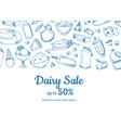 sketched dairy elements sale vector image