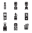 Water cooler black icons vector image
