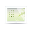 White tablet pc on white background vector image