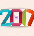 Happy new year 2017 banner origami Calendar cover vector image