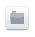 white folder icon Eps10 Easy to edit vector image vector image