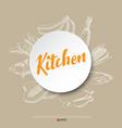 Food hand draw poster vector image