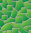 green engraved shapes surface seamless pattern vector image