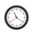 Simple round wall clock vector image