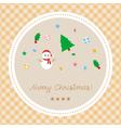 Merry Christmas greeting card24 vector image