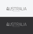 alphabet australia design concept with flat sign vector image vector image