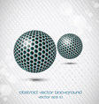 metal doted sphere vector image vector image