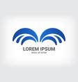 fountain blue logo design template vector image