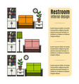 furniture for restroom infographic vector image