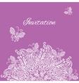 invitation Violet background vector image