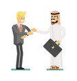 muslim businessman hold business meeting vector image