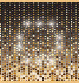 pentagon gold halftone dot abstract background vector image