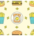 Tasty seamless pattern vector image