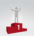 Winner on pedestal vector image vector image