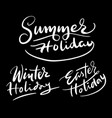 holiday hand written typography vector image
