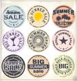 Summer sale grunge rubber stamp vector image