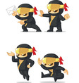 Ninja Customizable Mascot 8 vector image vector image