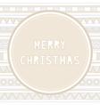 Merry Christmas greeting card25 vector image
