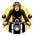 woman ride a motorcycle vector image