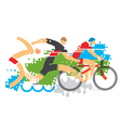 Triathlon competition vector image