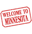 Minnesota - welcome red vintage isolated label vector image