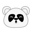 cute panda bear cartoon vector image