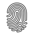 fingerprint access human icon vector image