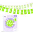 money laundering in washing machine vector image
