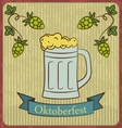 Retro of beer free label beer poster vector image