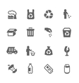 Simple Garbage Icons vector image