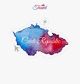 Travel around the world Czech Republic Watercolor vector image