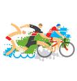 Triathlon competition vector image
