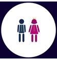 brother and sister computer symbol vector image