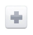 white cross icon Eps10 Easy to edit vector image vector image