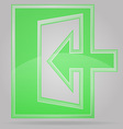 transparent sign exit 02 vector image vector image