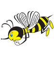 Bee thoughtful vector image vector image