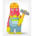 Funny Monster Contractor vector image vector image
