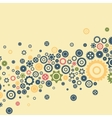 Bright colourfull gear background Flat design vector image
