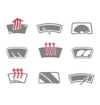 Car window icons vector image