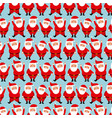 cute seamless pattern with santa claus for merry vector image