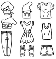 Doodle of women object theme vector image