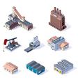 Isometric industrial buildings vector image
