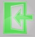 transparent sign exit 02 vector image