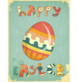 Retro Easter Card vector image