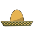 Isolated mexican hat design vector image
