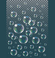 realistic isolated soap bubbles on the vector image