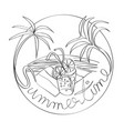 summertime stamp vector image vector image