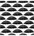 Seamless pattern with black umbrellas vector image vector image